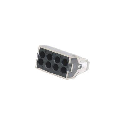 Клемма быстрого монтажа для распределительных коробок на 8 проводников 1,0-2,5 мм (3шт./уп.)