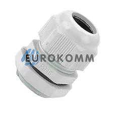 Кабельный ввод (сальник) PG-16 (10-14мм) белый