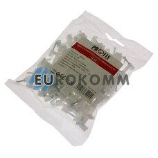 Скобы для кабеля плоские PROFIX 12/5.6 мм белые (100шт.)