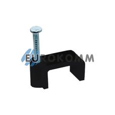 Скобы для кабеля плоские 6/3 мм черные (200шт.)