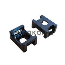 Площадка для стяжки под дюбель PROFIX 9.5х22х16мм черная (50 шт.)