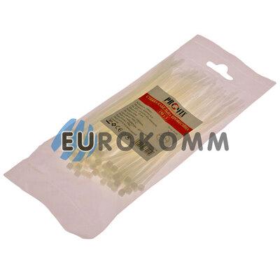 Стяжка нейлоновая PROFIX, 150х3мм, белая (100 шт.)