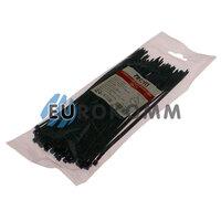 Стяжка нейлоновая PROFIX, 200х3мм, черная (100 шт.)
