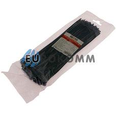 Стяжка нейлоновая PROFIX, 250х4мм, черная (100 шт.)