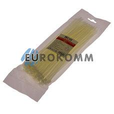 Стяжка нейлоновая PROFIX, 250х4мм, белая (100 шт.)