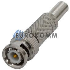 Штекер BNC под кабель, с пружиной, под закрутку, металл