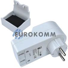 Переходник сетевой Евро + 2USB с подставкой для мобильного телефона