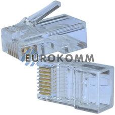 Коннектор компьютерный 8р8с (RJ-45), на кабель