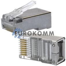 Коннектор компьютерный 8р8с (RJ-45), на кабель, экранированный