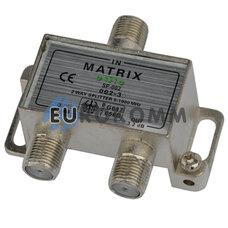 Разветвитель (сплиттер) антенный на 2 выхода + 3 F-разъема