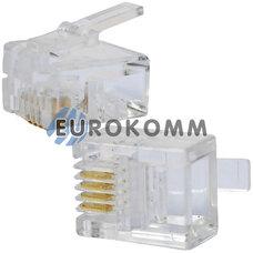 Коннектор телефонный 6р4с, на кабель