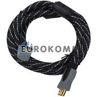Кабель (шнур) HDMI - HDMI (v1.3B, угловой с фильтрами, 2м)