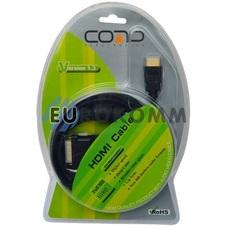 Кабель (шнур) переходник HDMI - DVI-D (gold, блистер, черный, 3м)