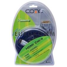 Кабель (шнур) переходник HDMI - DVI-D (Dual Link, с фильтром, gold, блистер, черный, 1.5м)