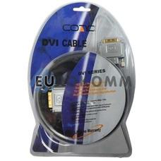 Кабель (шнур) DVI-D - DVI-D (с фильтром, Dual Link, gold, блистере, черный, 1.5м)