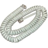 Шнур витой телефонный для трубки (4р4с), 4.5м, белый