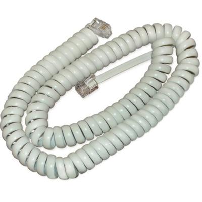 Телефонный удлинитель витой трубочный (4р4с), 15метров, белый
