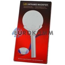 Лупа ручная круглая с LED подсветкой 2.5X -диам. 130мм; 5X –диам. 25мм