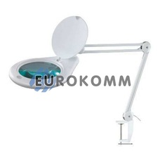 Лупа-лампа на струбцине с LED подсветкой, 5X кр. увеличение