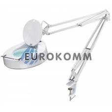 Лупа-лампа на струбцине с люминисцентной подсветкой (лампа Т9/22Вт), 5X кр. увеличение