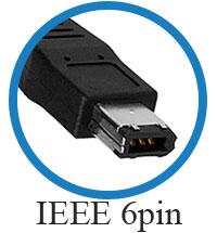 кабель IEEE 1394a 6 pin