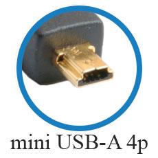 кабель mini USB-A 4p
