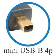 кабель mini USB-B 4p